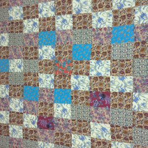 60x90' cottonfill quilted and 90x90' patchwork quilt