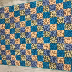 60x90' polyfill quilted and 90x90' patchwork quilt