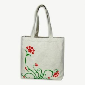 printed bag with canvas fabric