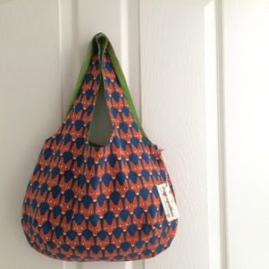 sadhu bag cotton printed with lining